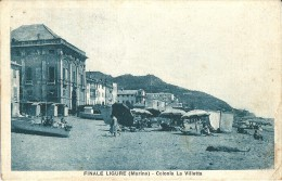 FINALE LIGURE (SV) - MARINA: COLONIA LA VILLETTA - F/P - V: 1929 - ANIMATA - Savona