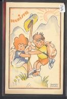 TOURISME - ENFANTS - PAR DORETTE MULLER - EDITEE PAR L'ASSOCIATION ALSACIENNE ET LORRAINE  DE PUERICULTURE - TB - Künstlerkarten