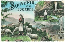 """1955, """"Souvenir De Lourdes"""" - S. Bernadette Gardant Les Moutons Nà Bertrès - - Lourdes"""