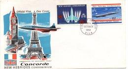 NEW HEBRIDES - Concorde FDC - English Legend