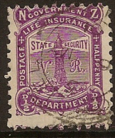NZ 1891 1/2d Life Insurance SG L13 U #GV14 - Service