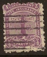 NZ 1891 1/2d Life Insurance SG L16 U #GV16 - Service