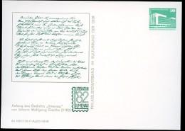 """DDR PP18 C2/010 Privat-Postkarte GOETHE GEDICHT """"ILMENAU"""" 1982 - DDR"""