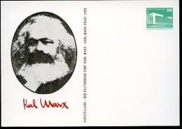 KARL MARX DDR PP18 C2/011 Privat-Postkarte Karl-Marx-Stadt 1983 - Karl Marx