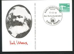 DDR PP18 C2/011 Privat-Postkarte KARL MARX Karl-Marx-Stadt Sost. 1983 - Karl Marx