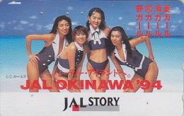 Télécarte Japon / 110-154984 - AVIATION JAL STORY - Jolie Fille  SEXY BIKINI GIRL - JAPAN AIRLINES Phonecard  Avion 763 - Avions