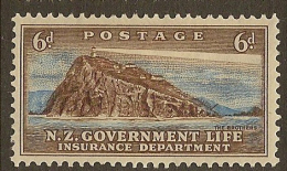 NZ 1947 6d Government Life SG L48 HM #HF126 - Service