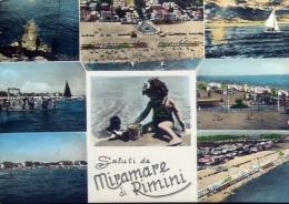 Saluti Miramare Di Rimini - 61005 - Formato Grande Viaggiata - Rimini