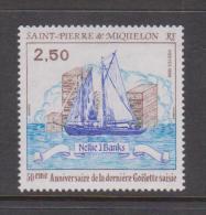 St Pierre & Miquelon 1988 Boat Nellie Banks Single MNH - St.Pierre & Miquelon
