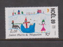 St Pierre & Miquelon 1989 Christmas Single MNH - St.Pierre & Miquelon
