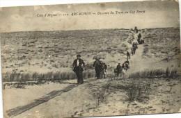 ARCACHON  Descente Du Tram Au Cap Ferret Recto Verso - Arcachon