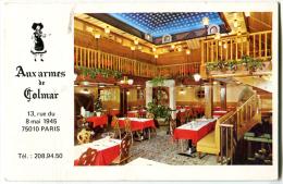 Plan De Paris Offert Par La Brasserie Aux Armes De Colmar - Old Paper