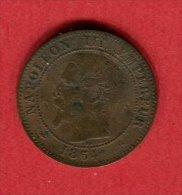 NAPOLEON III 1854 D   TTB  20 - B. 2 Centimes