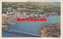 Etats Unis Florida Jacksonville And The St John's River From The Air - Jacksonville