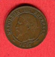 NAPOLEON III 1855 D    CHIEN TTB  18 - Francia