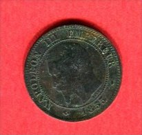 NAPOLEON III 1855 MA    ANCRE  TTB  18 - B. 2 Centimes