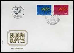 31954) Jugoslawien - Michel 1457 / 1458 - FDC - CEPT 72 - FDC