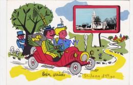 """CPM   De ST JEAN D' ILLAC (33) - Carte FANTAISIE  """" BIEN ARRIVES """" - Autres Communes"""