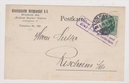 ALLEMAGNE  //  Postkarte   //   De  Colmar       //  Pour Rixheim  //  24 / 03/ 1916 //  Cachet Censure - Stamped Stationery