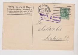 ALLEMAGNE  //  Postkarte   //   De Berlin   //    Rixheim      //  19/5/1916 //  Cachet Censure - Stamped Stationery