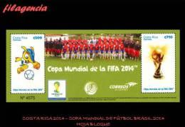 AMERICA. COSTA RICA MINT. 2014 COPA MUNDIAL DE FÚTBOL BRASIL 2004. HOJA BLOQUE - Costa Rica