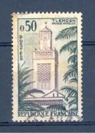 VARIETES FRANCE   1960   N° 1238  MOSQUEE DE TLEMEN EN ALGERIE   OBLITERE   3 SCANNES - Abarten Und Kuriositäten
