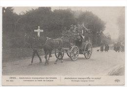 Ambulance Transportant Des Blessés Traversant La Foret De LAIGUE - Attelage (73813) - War 1914-18