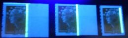 = 3 Types Phosphore Marianne Beaujard 0.01€ N°208 Phosphore Continu, Interrompu Sur Timbre Et Interrompu Entre Timbres - 2008-13 Marianne Of Beaujard