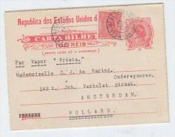 Brazil/Netherlands UPRATED POSTAL CARD 1920 - Brazil