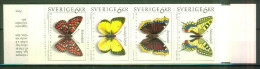 Insecte - Papillons  - SUEDE - Chenille, Chrysalide, Cocon - Carnet Plié - N° 1759 à 1762 ** - 1993 - Sweden