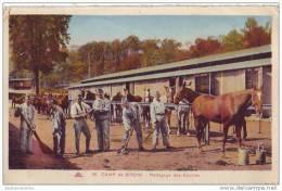 BITCHE - 57 - Camp - Nettoyage Des écuries (carte Colorisée) - Bitche