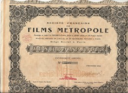 FILMS  METROPOLE - Cinéma & Théatre