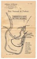 PARC NATIONAL DE FURFOOZ - (Près De DINANT) - Petit Guide 1956 - 10 Pages - Dépliants Touristiques