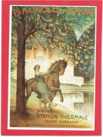 BAGNOLES DE L ORNE AFFICHE ANCIENNE PAR LEANDRE EN 1922 CARTE EN TRES BON ETAT - Bagnoles De L'Orne
