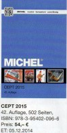 CEPT Michel Briefmarken Katalog 2015 Neu 54€ + JG-Tabelle EUROPA Vorläufer EG NATO EFTA KSZE Symphatie 978-3-95402-096-6 - Allemand