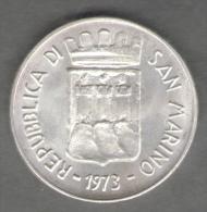SAN MARINO 500 LIRE 1973 AG SILVER - San Marino