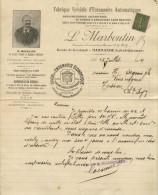 FACTURE MARMANDE LOT ET GARONNE MARBOUTIN ENTONNOIRS 1917 - France