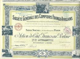 COMPTOIRS FRANCO  AFRICAINS - Afrique