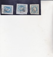 OBLITERATIONS GROS CHIFFRES - 396 -BEAUNE -SUR FRAGMENT AFFRANCHIE N° 22-29-37 - - 1849-1876: Classic Period