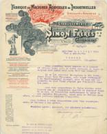 FACTURE CHERBOURG MANCHE SIMON MACHINES AGRICOLES 10/12/17 - Unclassified