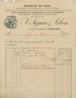 FACTURE ANGOULEME CHARENTE SEGUIN LEBON MERCERIE 1891 FIL AU RENARD - France