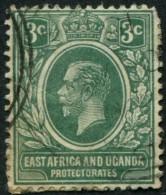 Pays : 260 (Kenya & Ouganda : Colonie Britannique)  Yvert Et Tellier N° :   3 (o) - Kenya, Uganda & Tanganyika