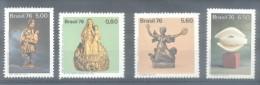 BRAZIL  BRASIL BRESIL SCULPTURES BRESILIENNES SERIE COMPLETA COMPLETE SET AÑO 1976 YVERT NRS. 1230-1233 MNH TBE - Brazil