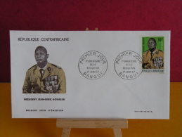 FDC- Président Jean Bedel Bokassa - Bangui - 1.1.1967 - 1er Jour, République Centrafricaine - Central African Republic