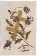 Souvenir De Lorraine - Fantaisie Avec Ajoutis  Fleurs   (73839) - Guerra 1914-18