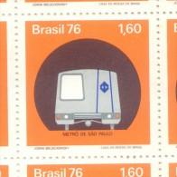 BRAZIL  BRASIL BRESIL  METRO SUBTE SUBTERRANEO DE SAN PABLO SAO PAULO YVERT NR. 1222 MNH AÑO 1976 - Unused Stamps