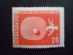 HUNGARY  1958    MICHEL 1547A   EU AND WORLD CHAMPIONSHIP    SWIMMING         MNH **   (0545-NVT) - Tischtennis
