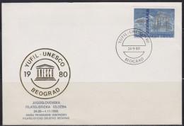 6182. Yugoslavia, 1980, Philatelic Exhibition, Cover - 1945-1992 Sozialistische Föderative Republik Jugoslawien