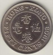 @Y@    Hong Kong   50 Cents  1963     (2756) - Hong Kong