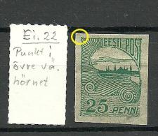 Estland Estonia Estonie 1920 Tallinn Reval Stadtansicht Michel 15 + Printing Error * - Estland